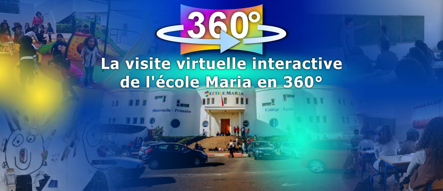 Clique ici : la visite guidée virtuelle interactive de l'école Maria en 360°